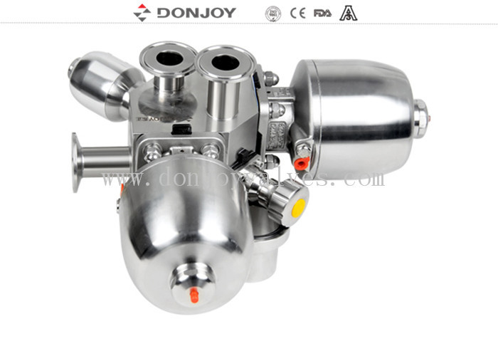 DONJOY sanitary multiport Pneumatic Sanitary Diaphragm Valve , multiport valve