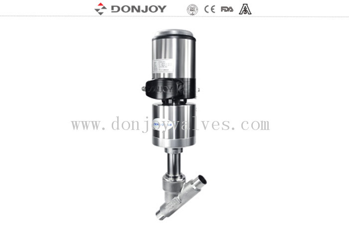 "3"" Stainless Steel Actuator Angle Seat Valve , Steam Angle Valve With Welding"