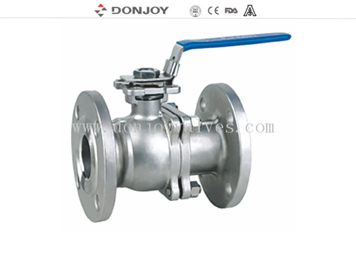 CFM / CFM8 Stainless steel Sanitary Ball Valve , JIS ANSI 150BLS Flanged  Ball valve Manual Operation