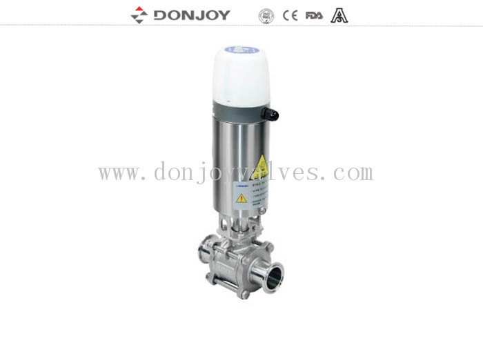 3 pcs Non retention Sanitary Ball Valve disasembly full port , SS316L , 2 INCH